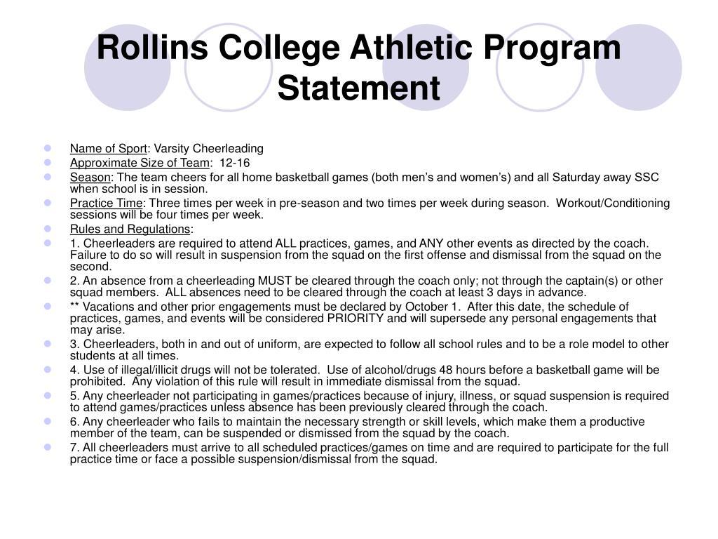 Rollins College Athletic Program Statement