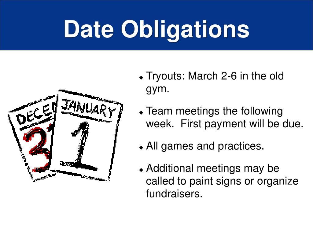 Date Obligations