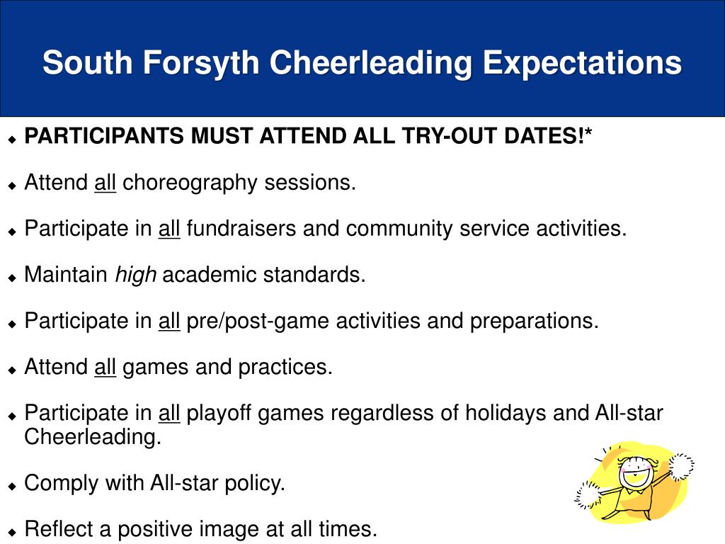 South Forsyth Cheerleading Expectations
