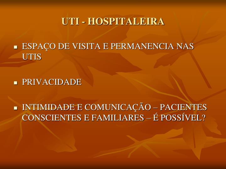 UTI - HOSPITALEIRA