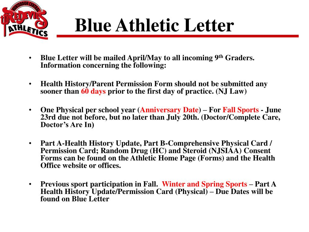 Blue Athletic Letter