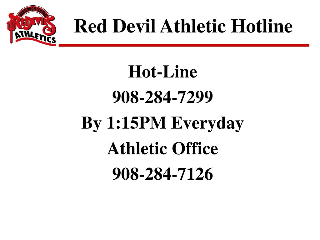 Red Devil Athletic Hotline