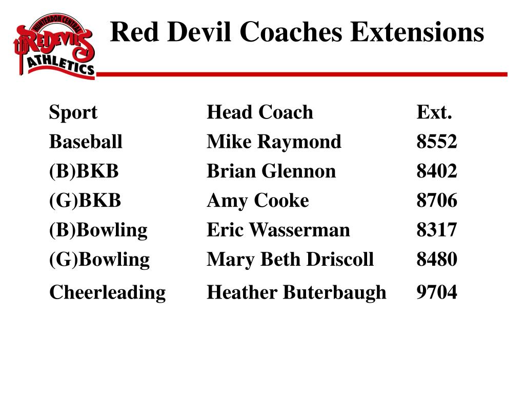 Red Devil Coaches Extensions