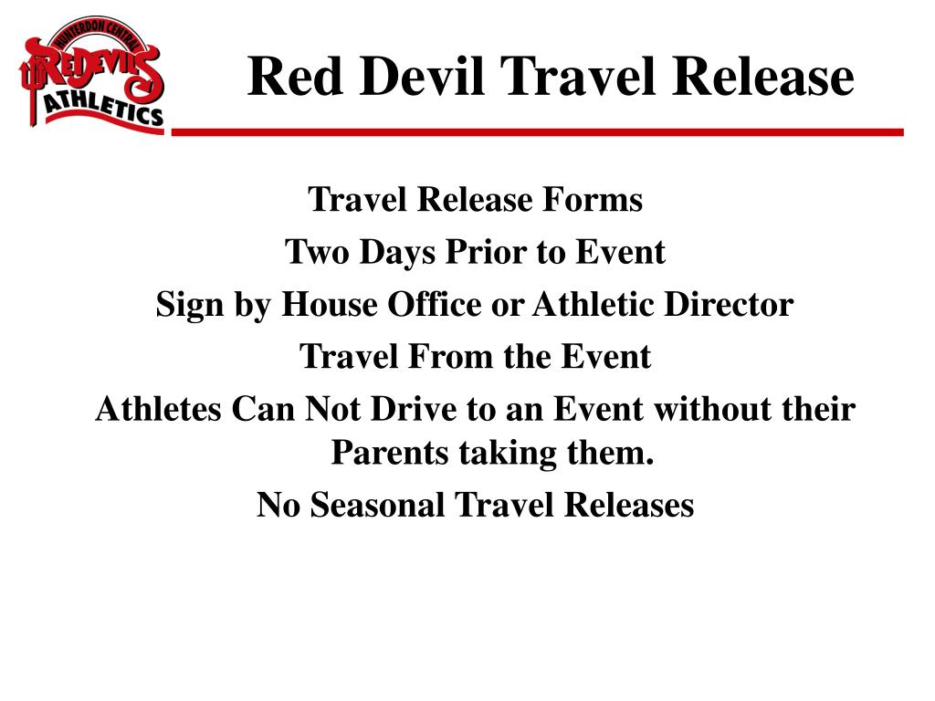 Red Devil Travel Release