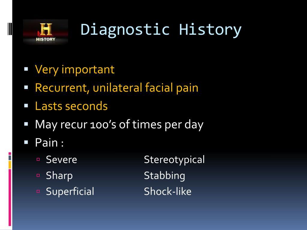 Diagnostic History