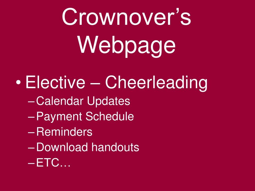 Crownover's Webpage