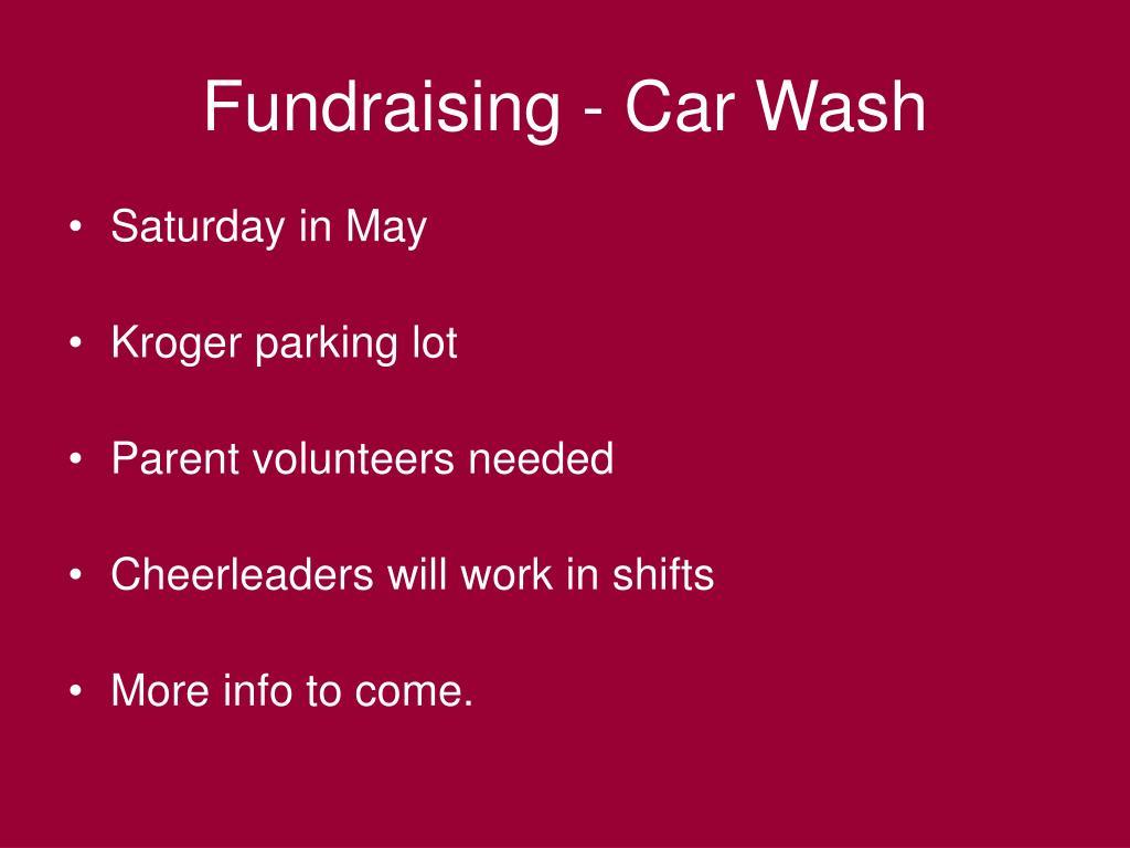 Fundraising - Car Wash
