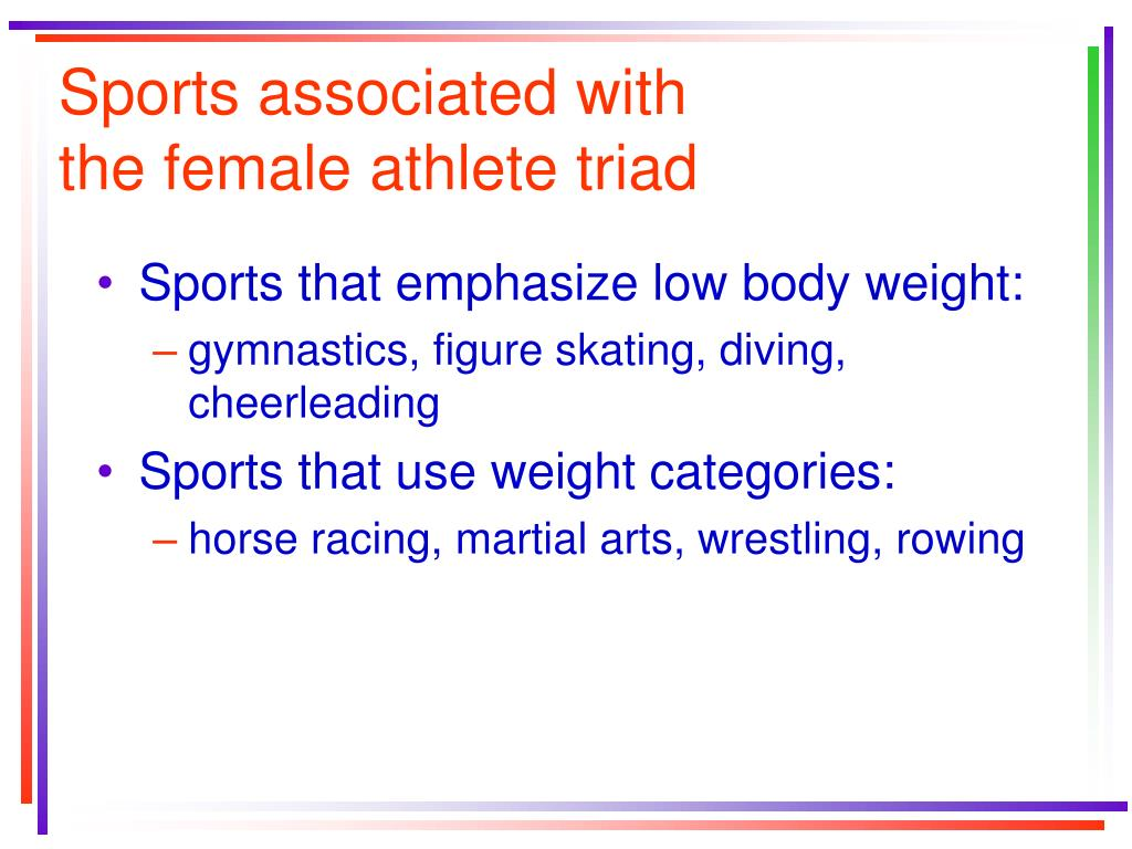 Sports associated with