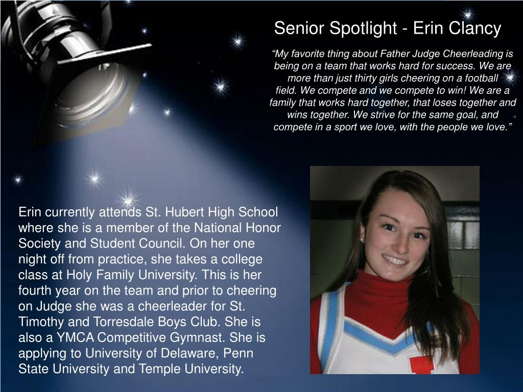 Senior Spotlight - Erin Clancy