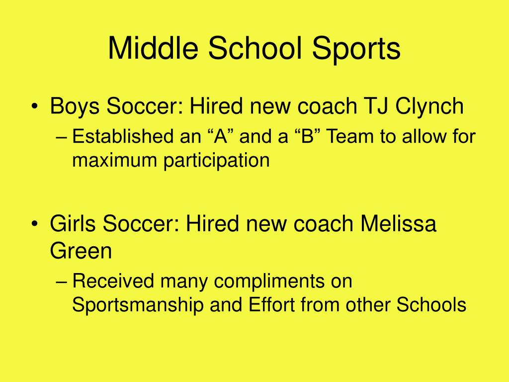 Middle School Sports