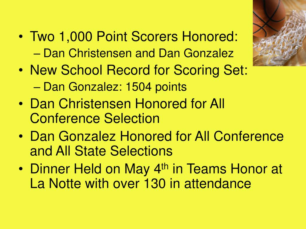 Two 1,000 Point Scorers Honored: