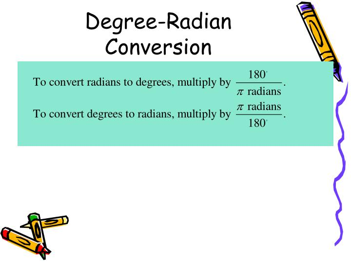 Degree-Radian Conversion