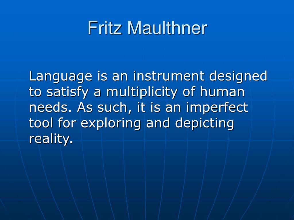 Fritz Maulthner