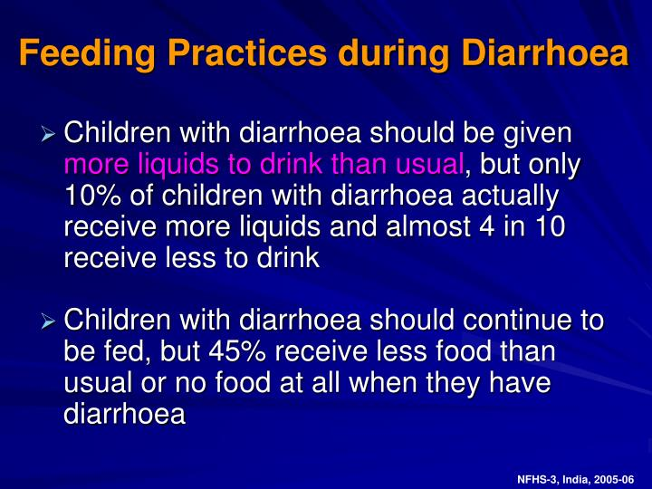 Feeding Practices during Diarrhoea