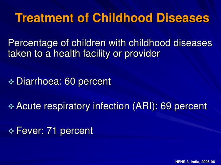 Treatment of Childhood Diseases