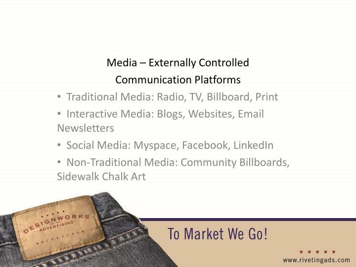 Media – Externally Controlled