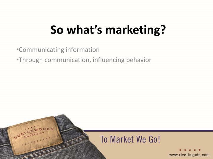 Communicating information