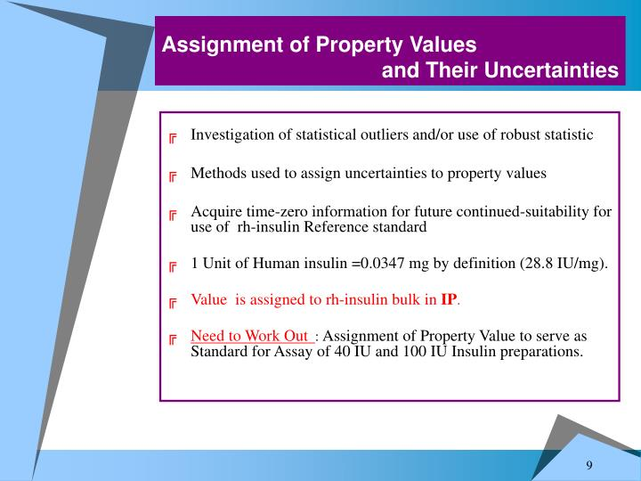 Assignment of Property Values