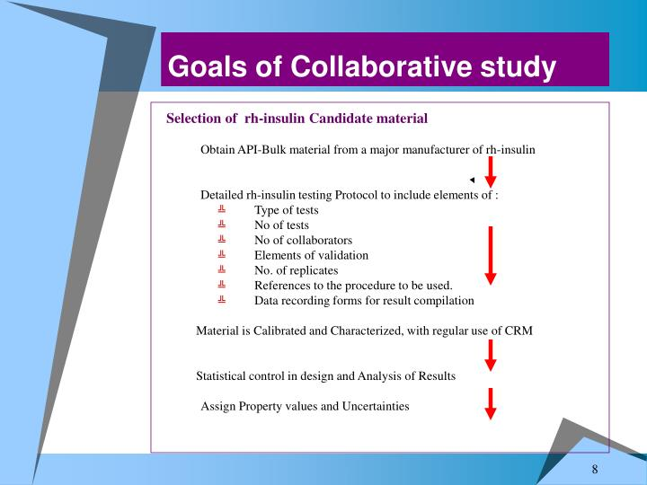Goals of Collaborative study