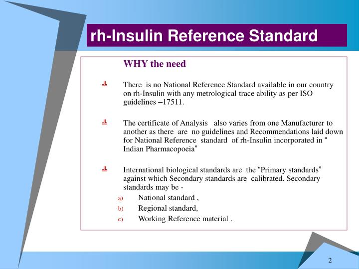 Rh-Insulin Reference Standard