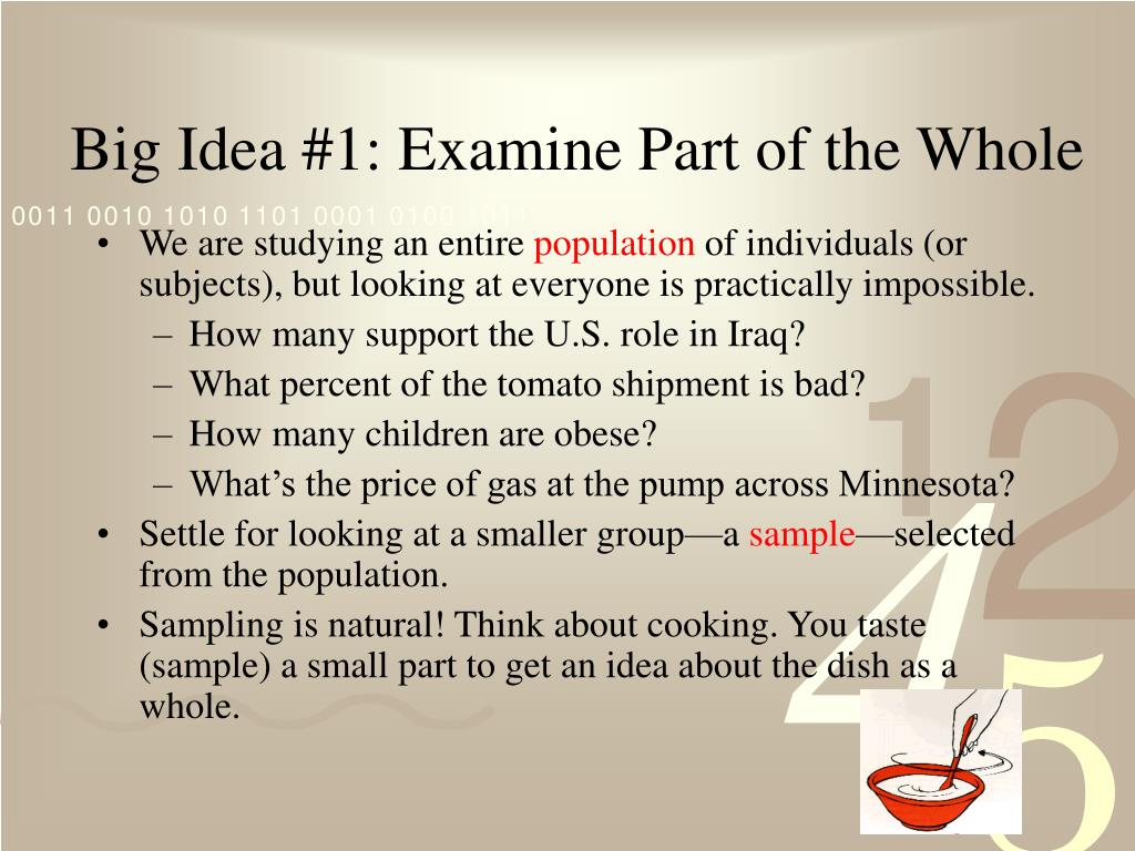 Big Idea #1: Examine Part of the Whole