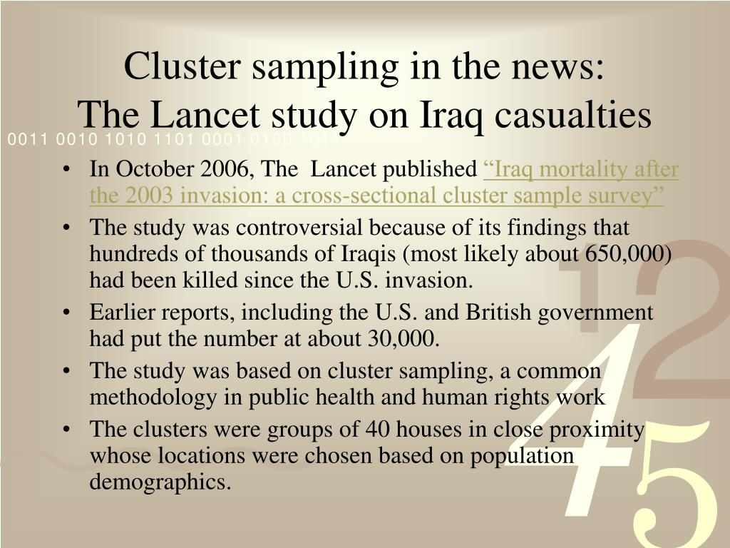 Cluster sampling in the news: