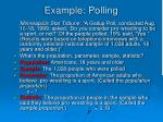 example polling