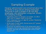 sampling example