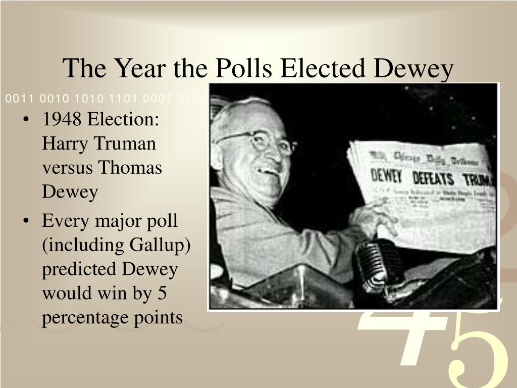 The Year the Polls Elected Dewey