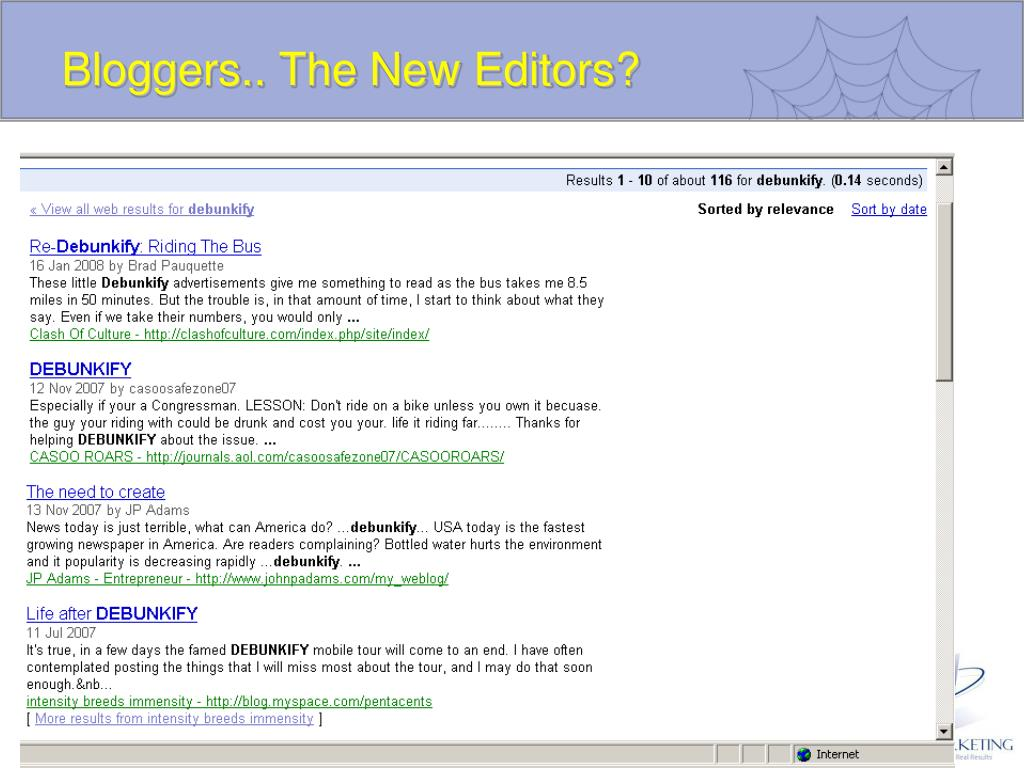 Bloggers.. The New Editors?