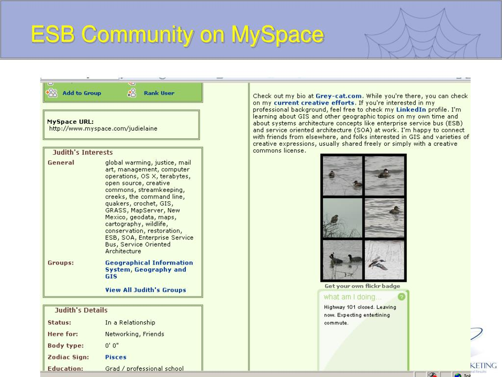 ESB Community on MySpace