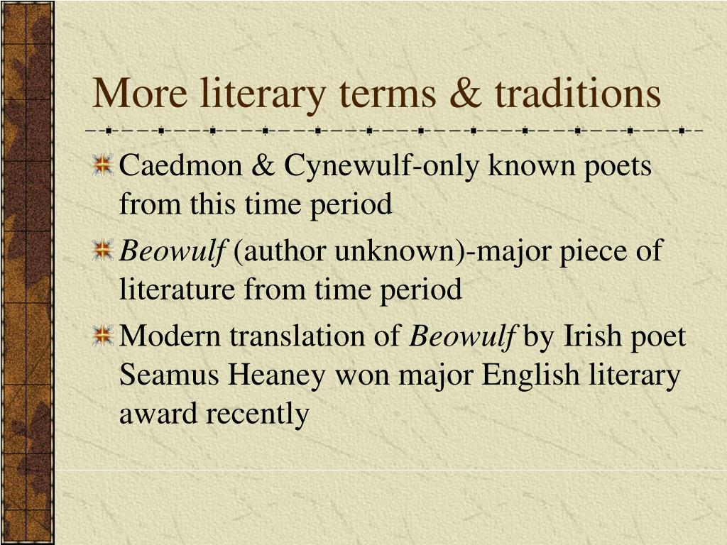 More literary terms & traditions