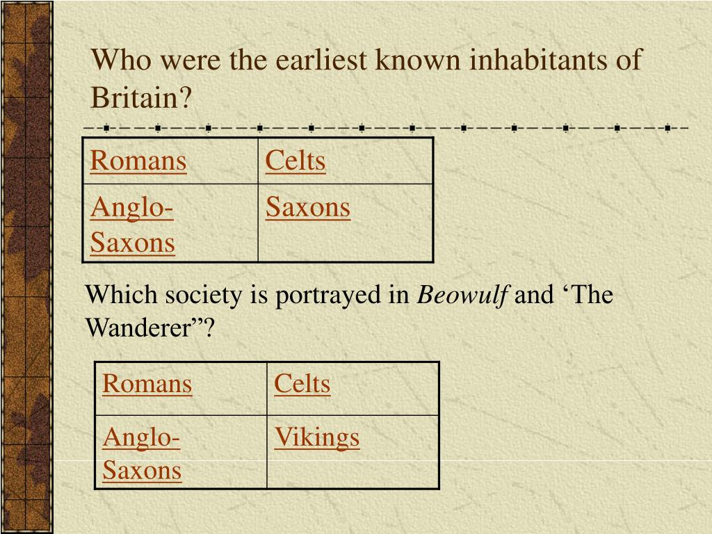 Who were the earliest known inhabitants of Britain?