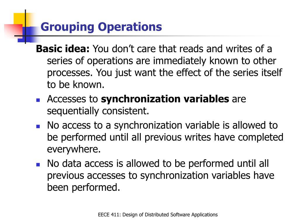 Grouping Operations
