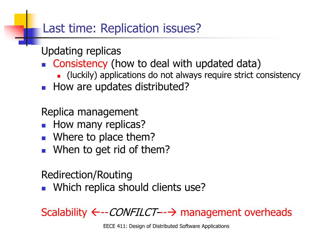 Last time: Replication issues?