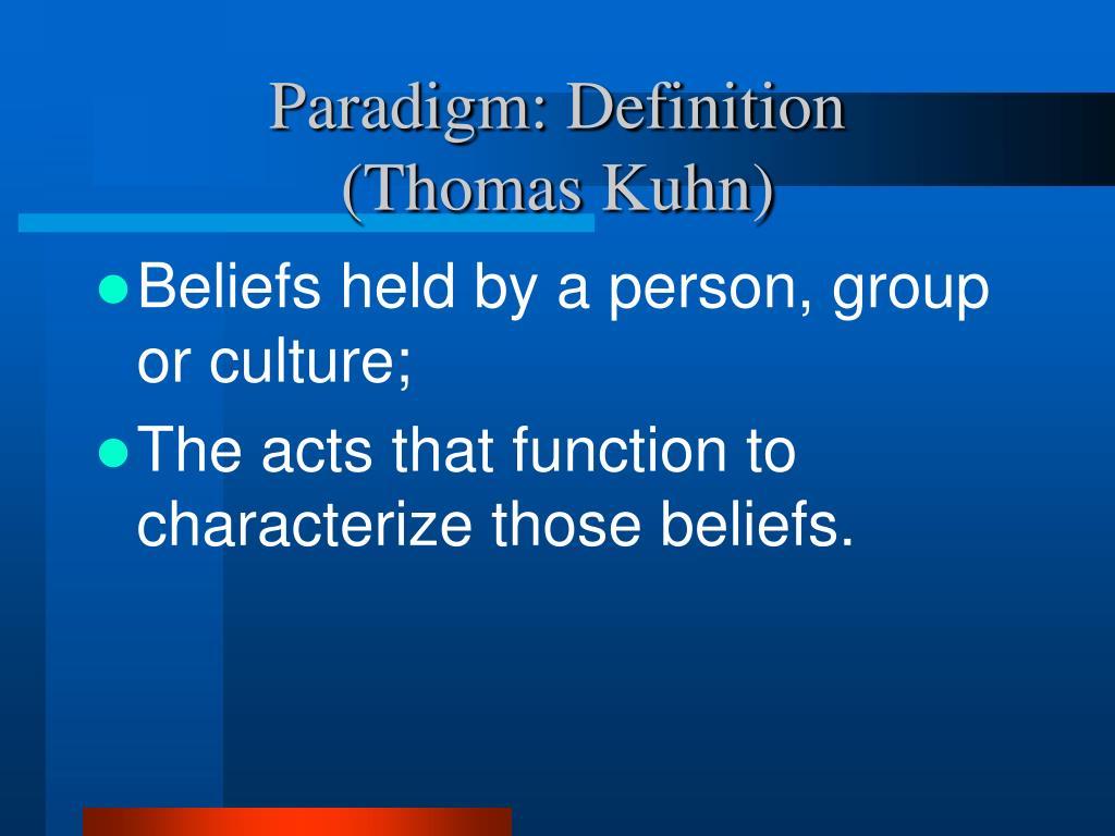 Paradigm: Definition