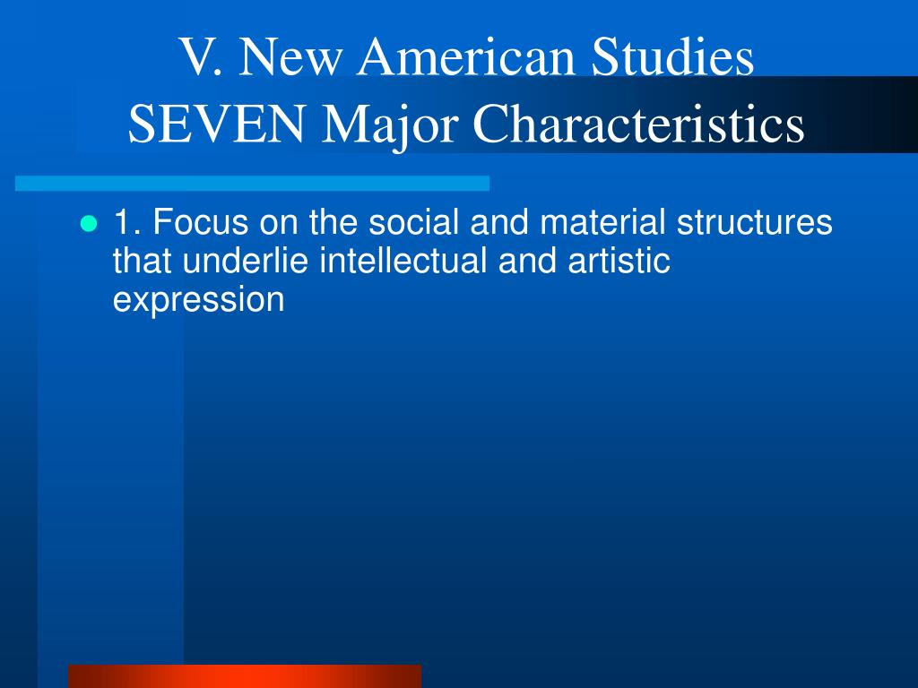 V. New American Studies