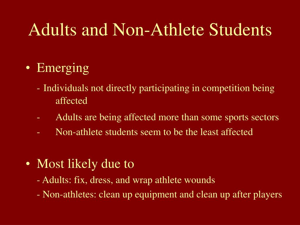 Adults and Non-Athlete Students
