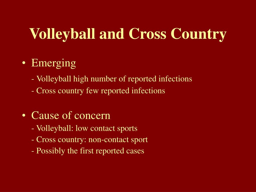 Volleyball and Cross Country