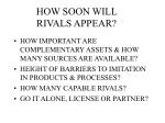 how soon will rivals appear