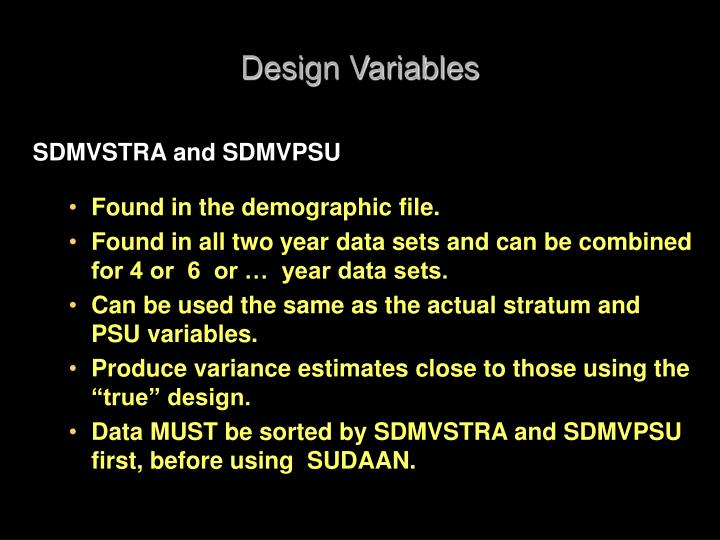 Design Variables
