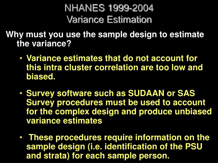 NHANES 1999-2004