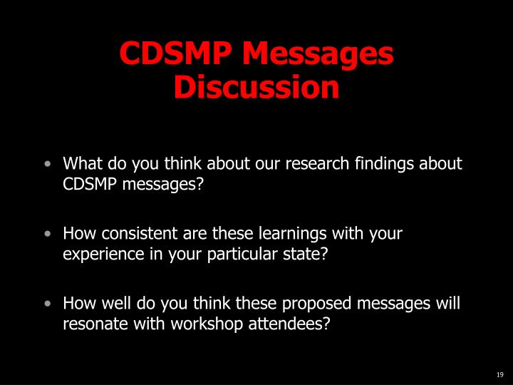 CDSMP Messages