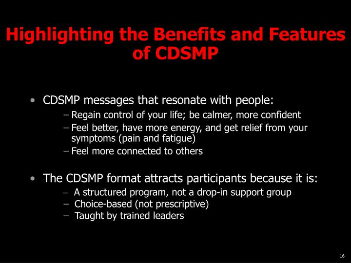 Highlighting the Benefits and Features of CDSMP