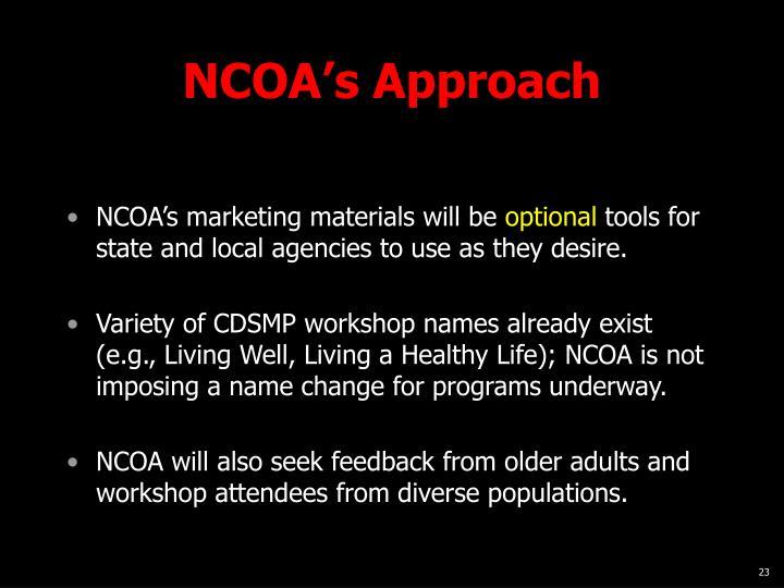 NCOA's Approach