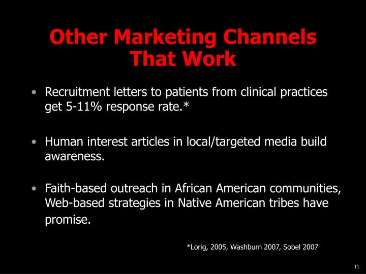 Other Marketing Channels