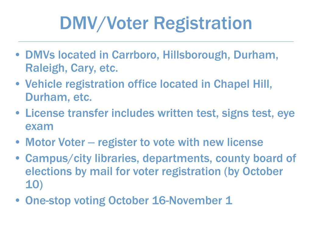 DMV/Voter Registration