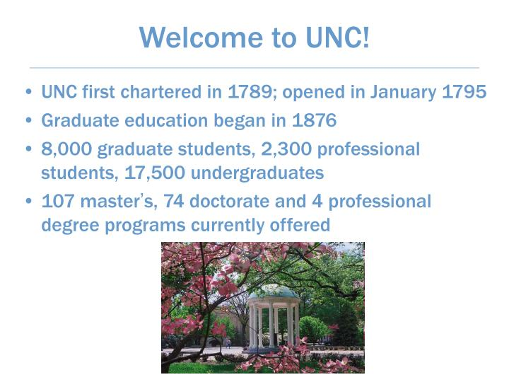 Welcome to unc