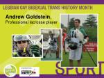 andrew goldstein professional lacrosse player