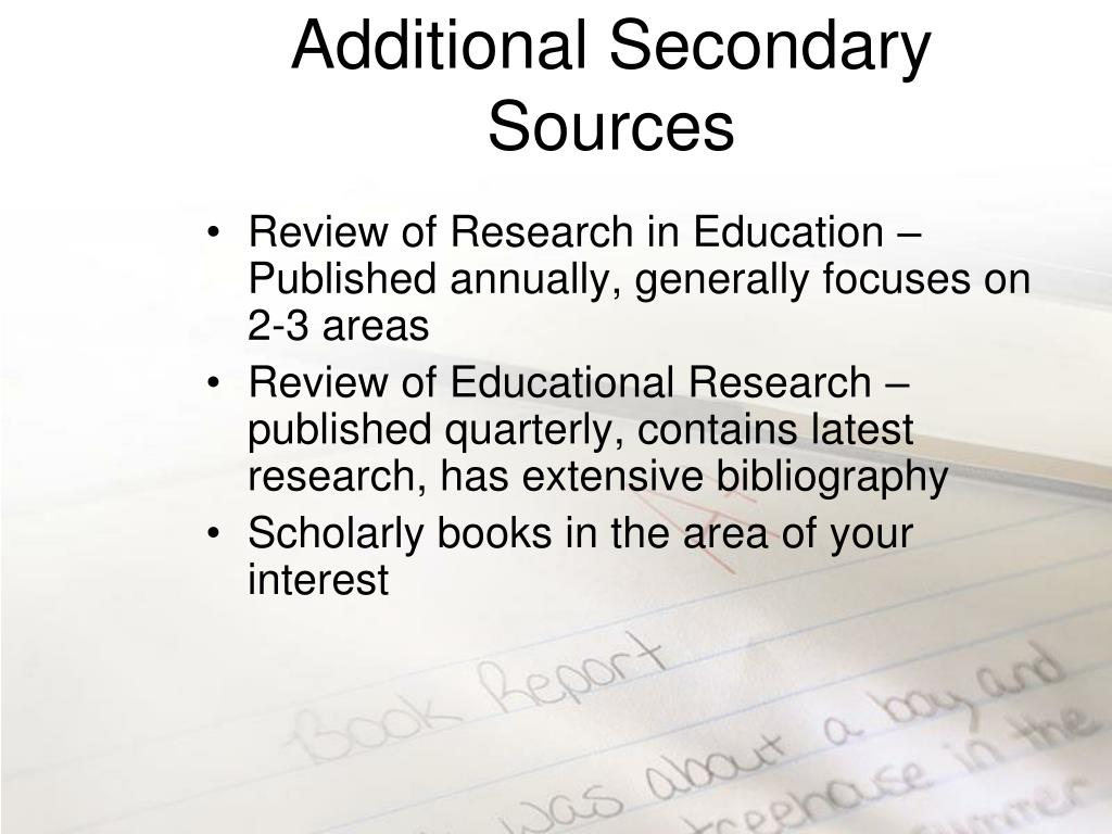 Additional Secondary Sources